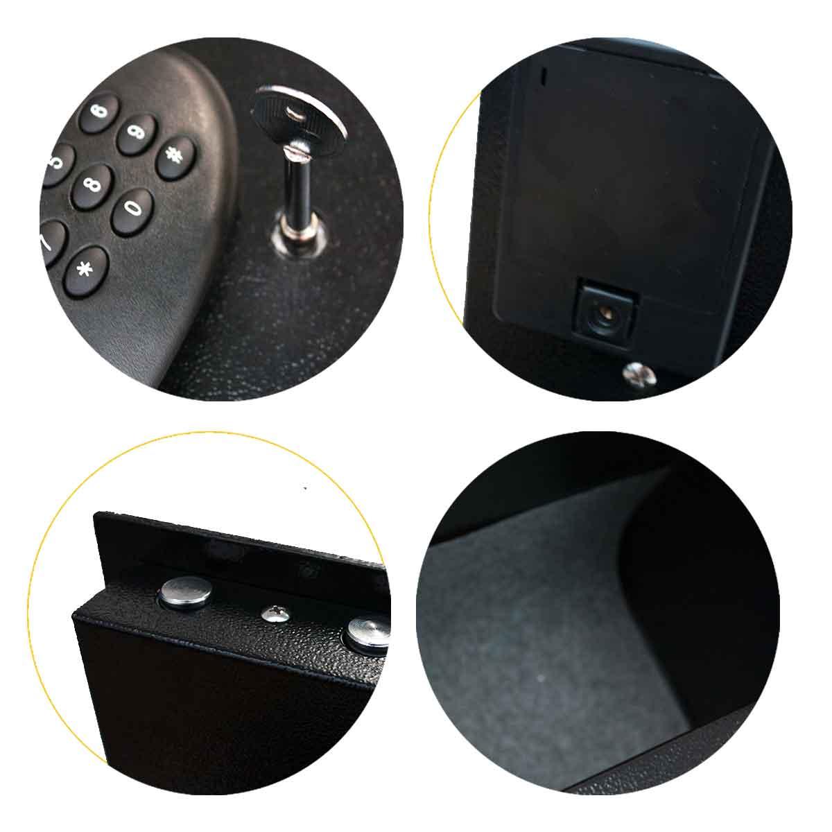 Cofre Digital Senha Grande Dinheiro 20x42x37cm Chave Aço