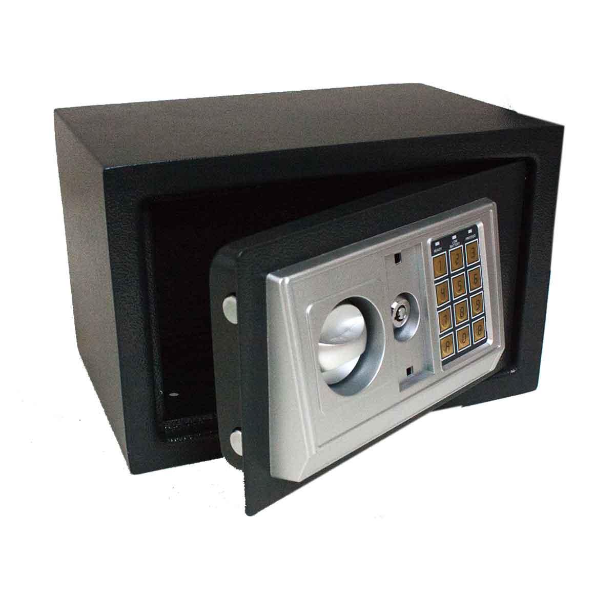 Cofre Eletrônico Digital Segredo Senha 30x20x20cm Chave Aço