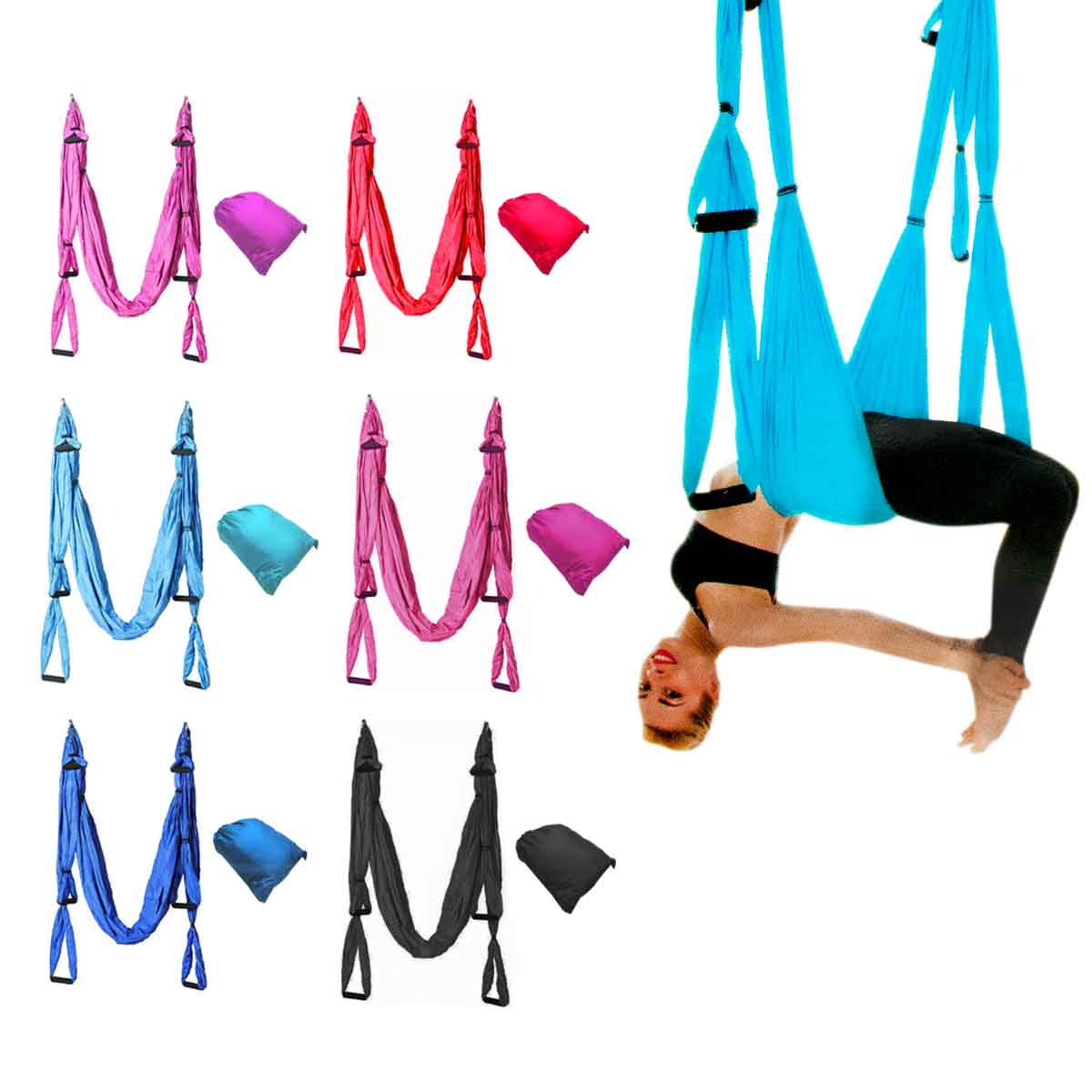 Columpio Suspenso Pilates Yoga Aéreo Balance Swing Bolsa