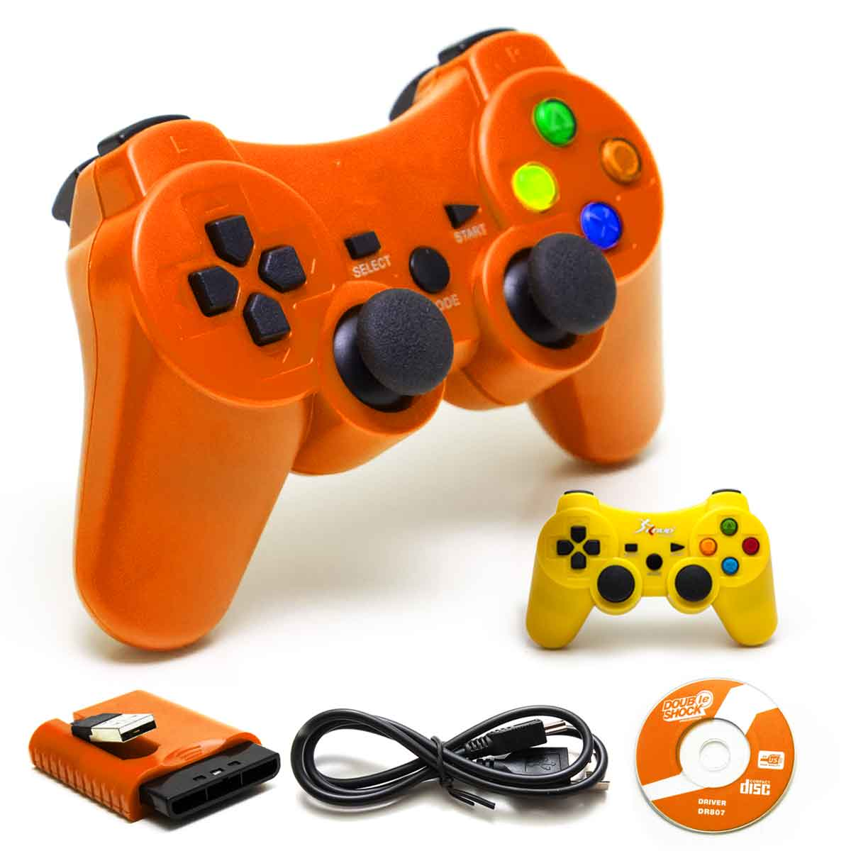 Controle Sem Fio 4 Em 1 Wireless Recarregavel Pc Ps1 Ps2 Ps3