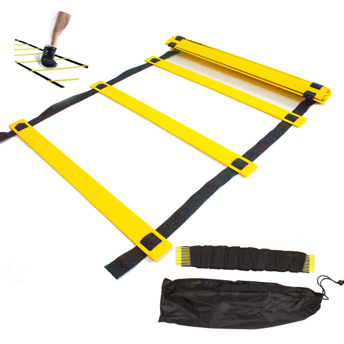 Escada De Agilidade Treino Funcional 10 Degraus 5m Esporte