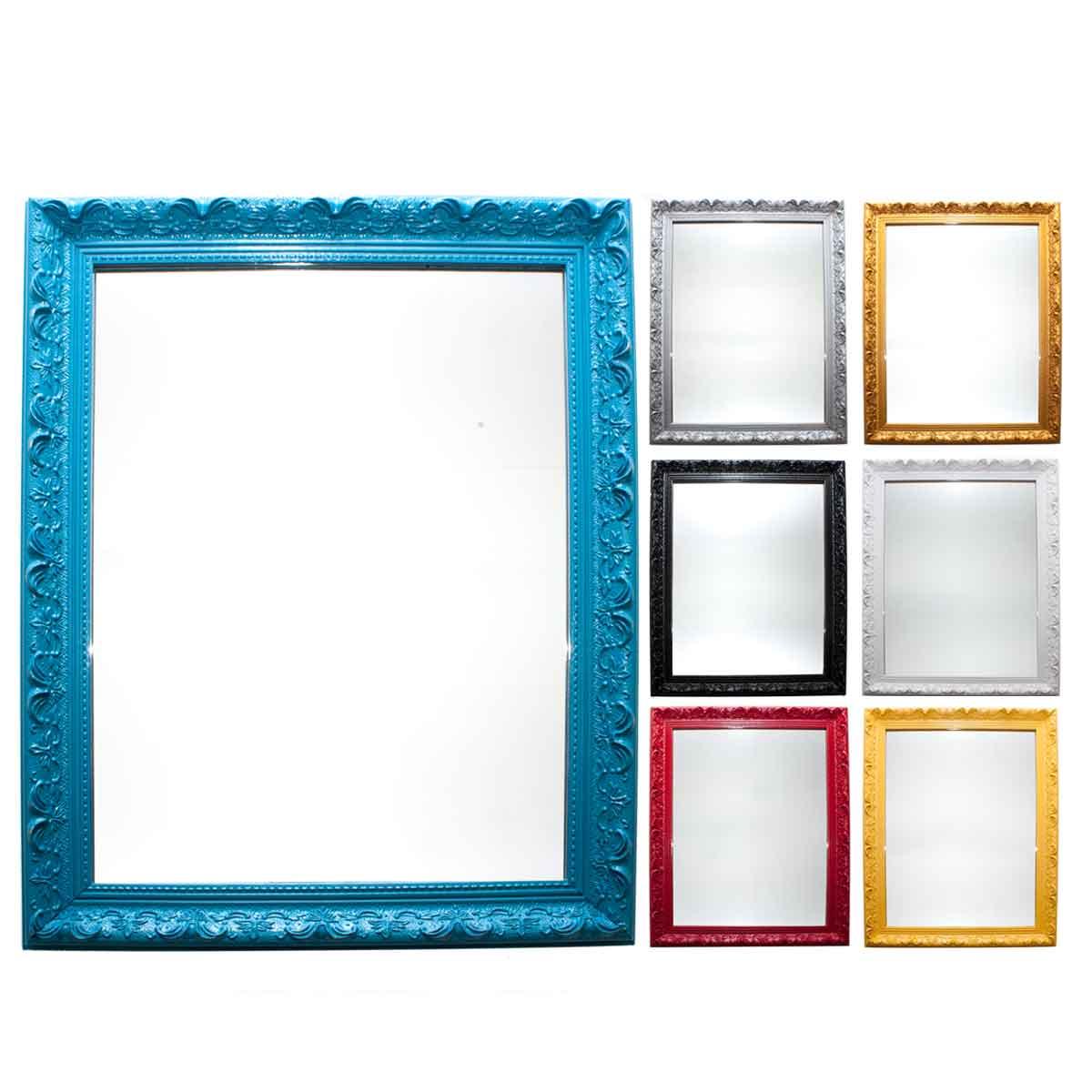 Espelho Moldura Vintage Rococó Moderno Decoração Vertical