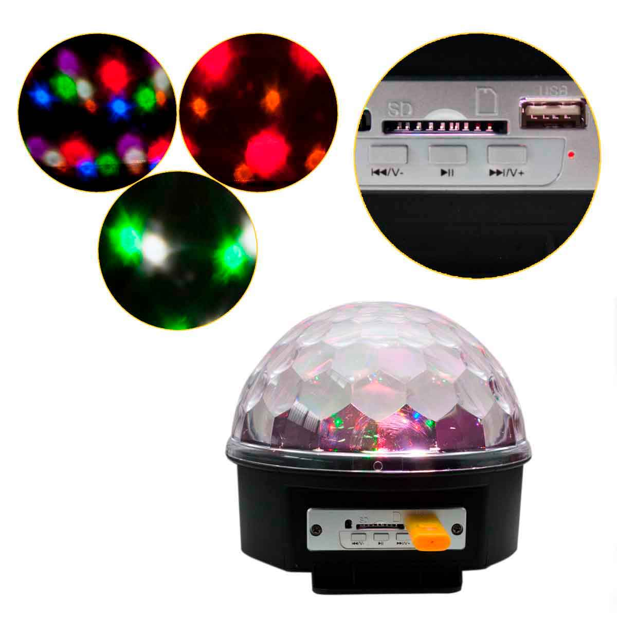Globo Bola Maluca Led Magic De Cristal Rgb 30w Festas