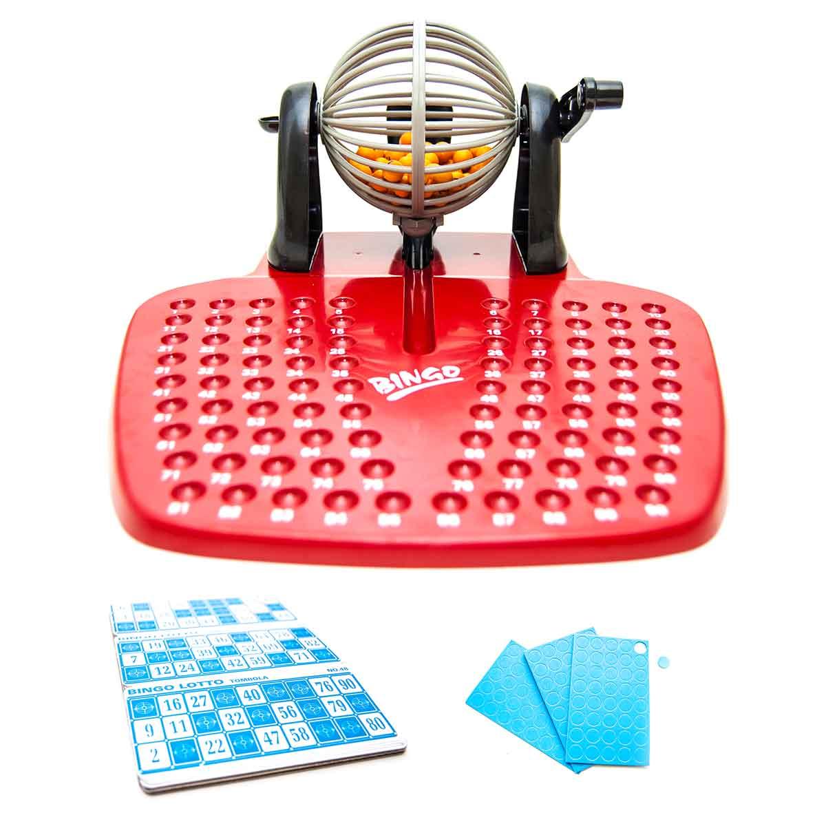 Jogo De Bingo Lotto Globo À Manivela 48 Cartelas 90 Bolinhas