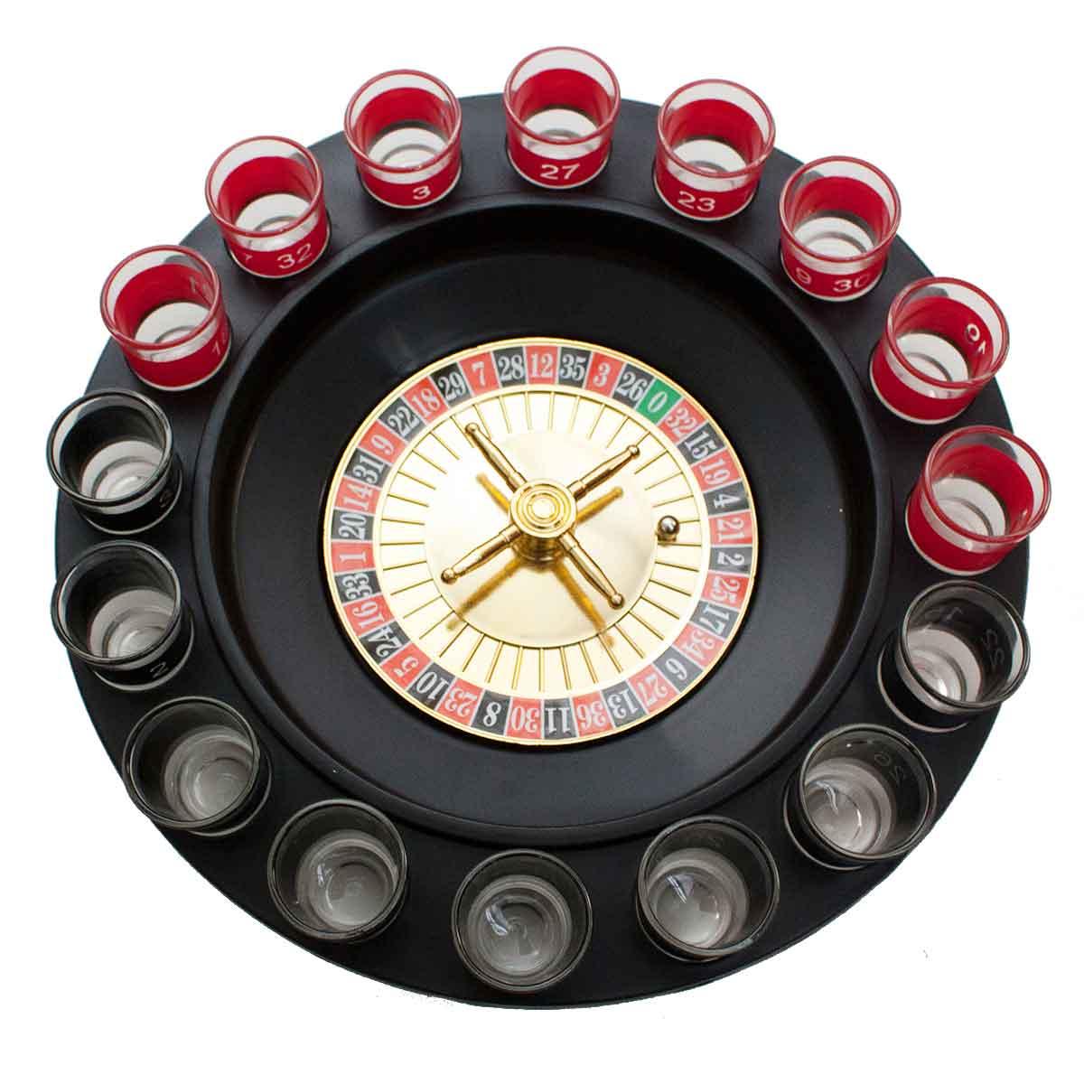 Jogo P/ Beber Cassino Roleta Shot Drink Beer Bebida 16 Copos