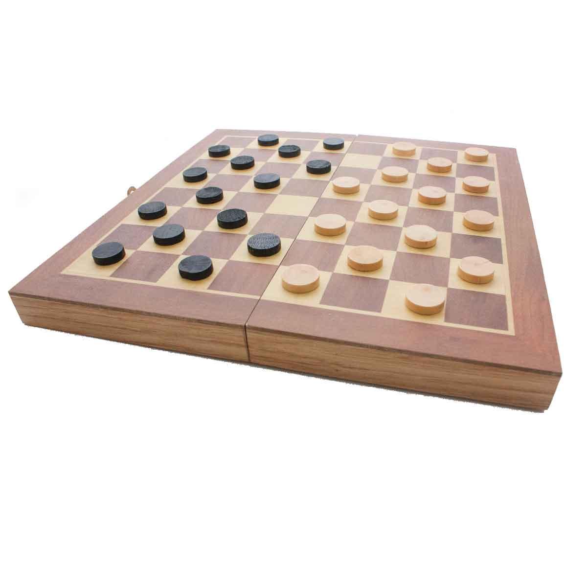 Jogo Xadrez Dama Gamão Madeira Tabuleiro 3 Em 1 29x29