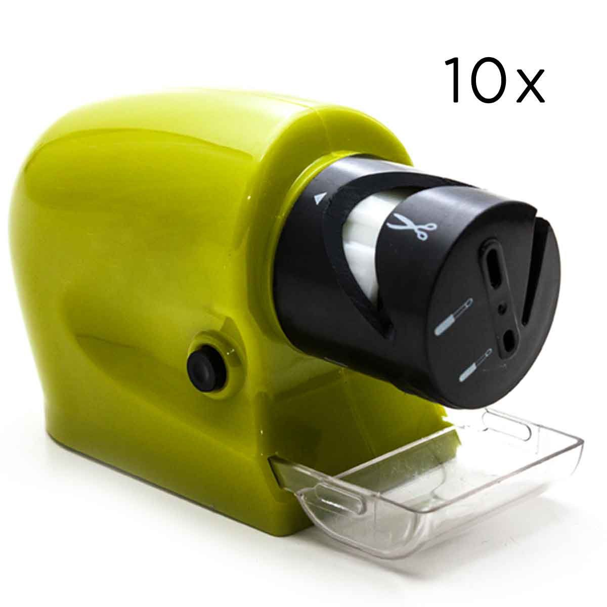 Kit 10 Amolador Afiador Portátil Tesouras Facas Ferramentas Alicate