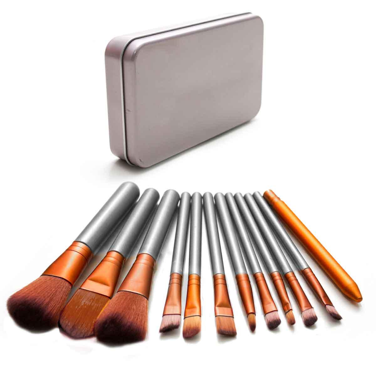 Kit 12 Pincéis Maquiagem C/ Estojo Power Blush