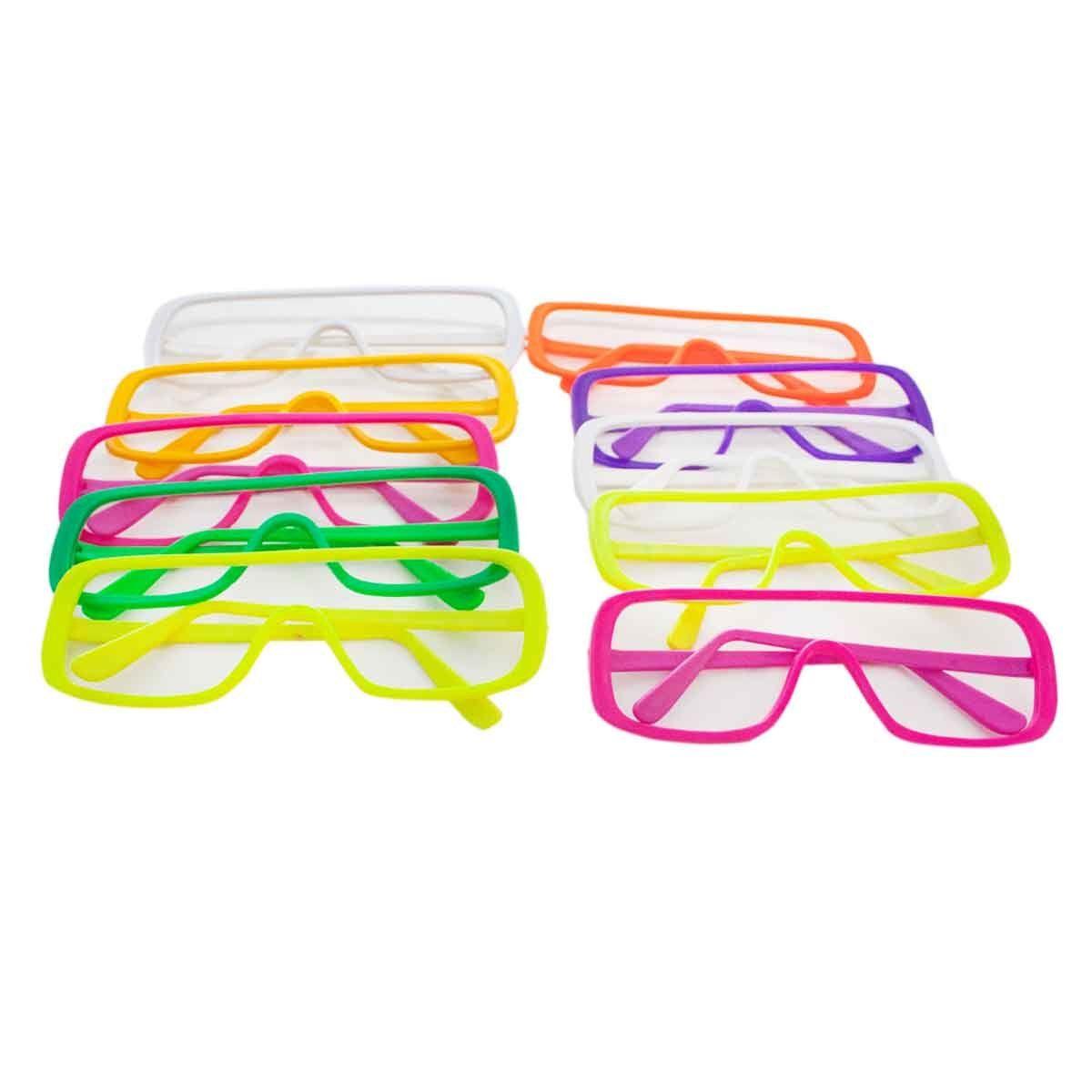 KIT com 10 Óculos Esquiador sem Lente Festas Aniversário