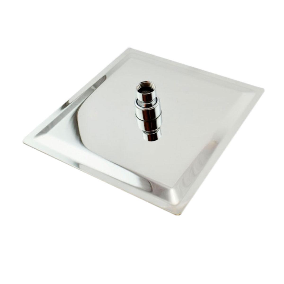 Kit Ducha Inox Chuveiro 25x25 Cm + Cano 35 Cm Quadrada
