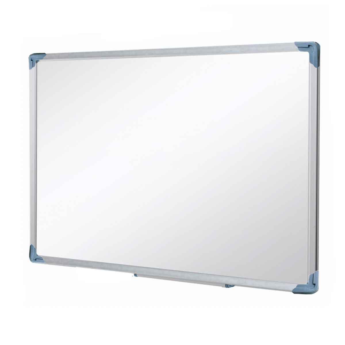 Lousa Quadro Branco 100x80cm Com Moldura De Alumínio