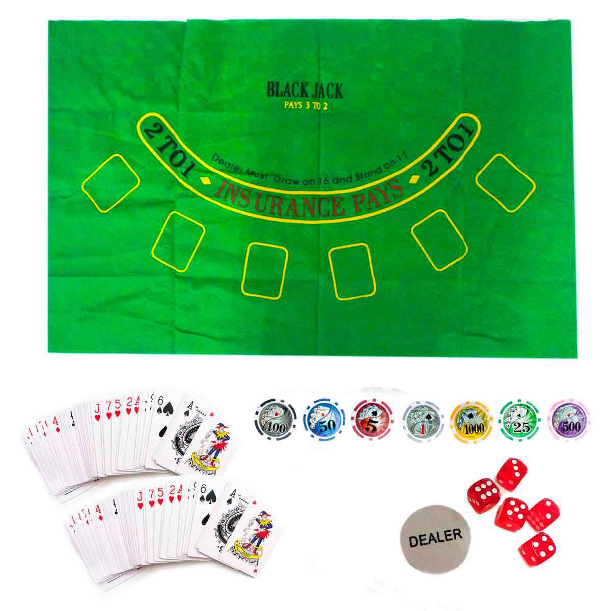 Maleta Poker 500 Fichas Com Numeração + Baralho Prata Brinde
