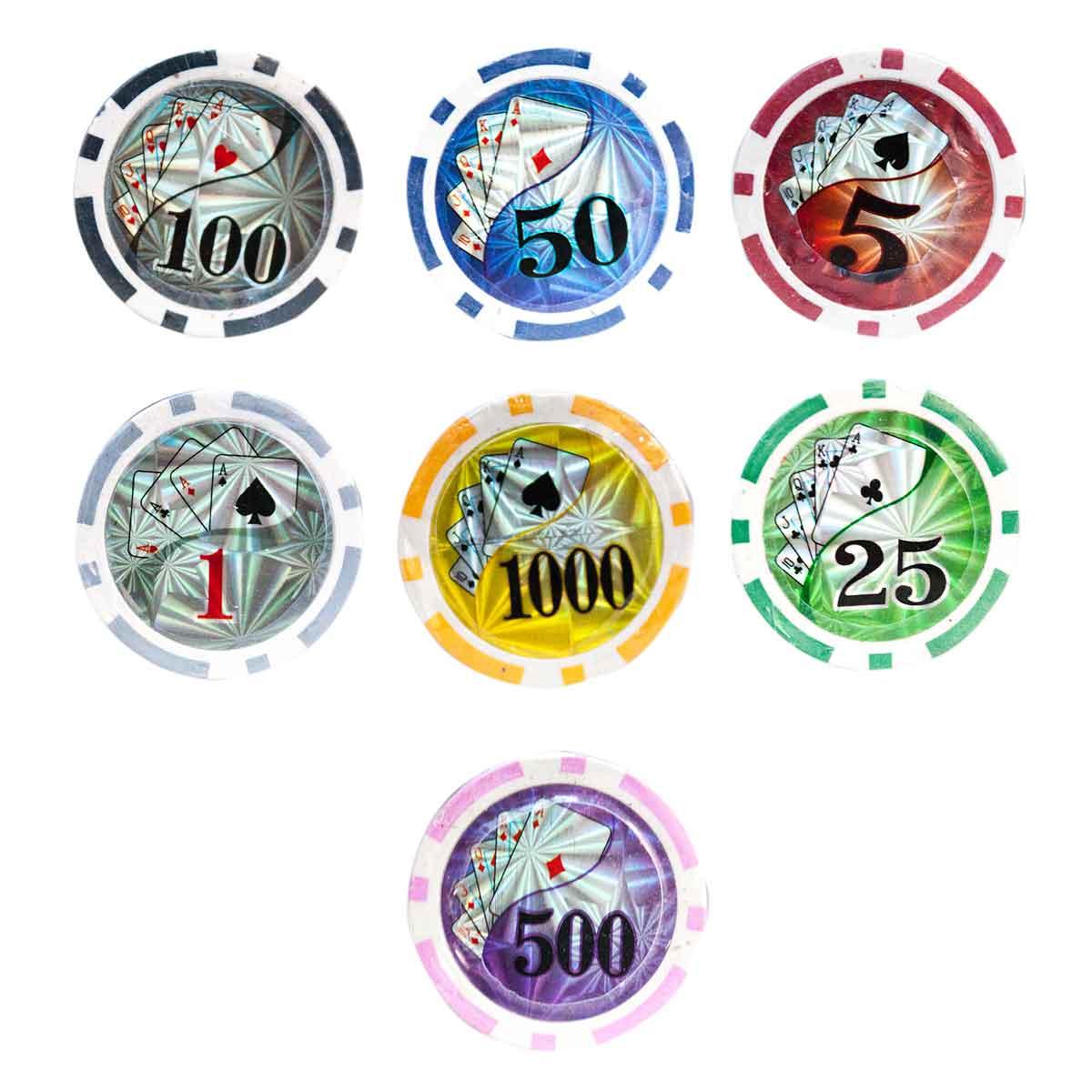 Maleta Poker 500 Fichas Com Numeração Abs AVARIA
