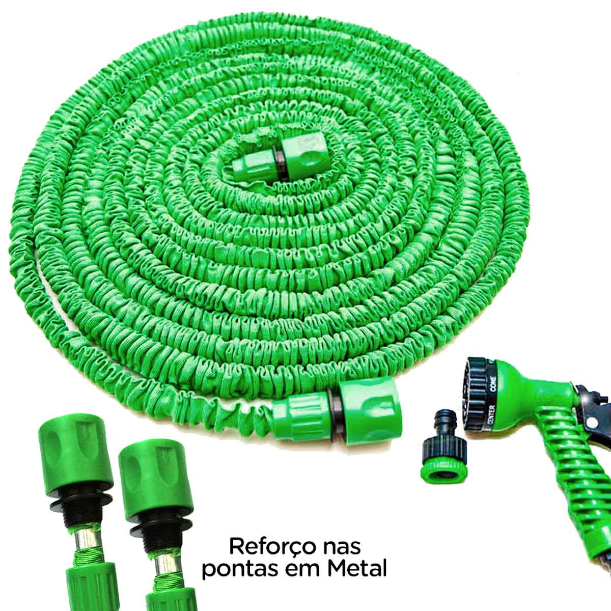 Mangueira Mágica Retrátil Flexível 30m Elástica Nylon Metal