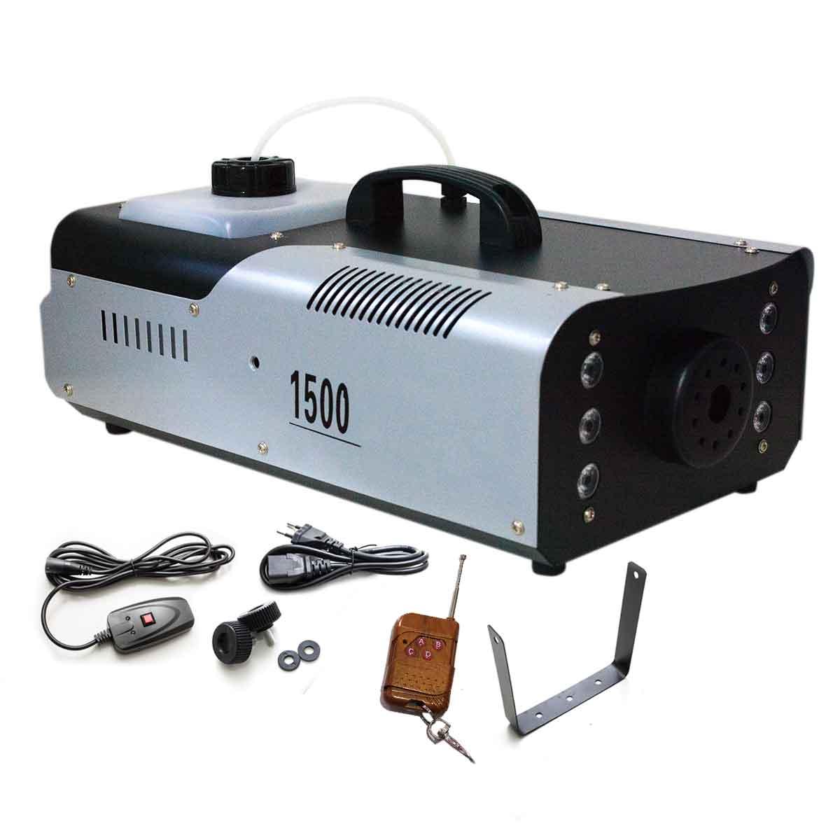 Máquina Fumaça 1500w Iluminação 220v Rgb Controle Sem Fio