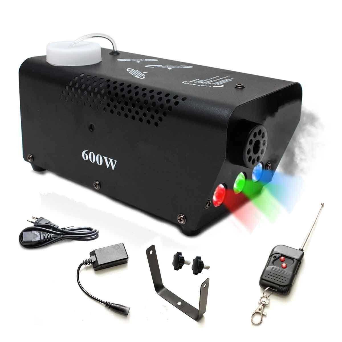Máquina Fumaça 600w Iluminação Rgb Controle Sem Fio