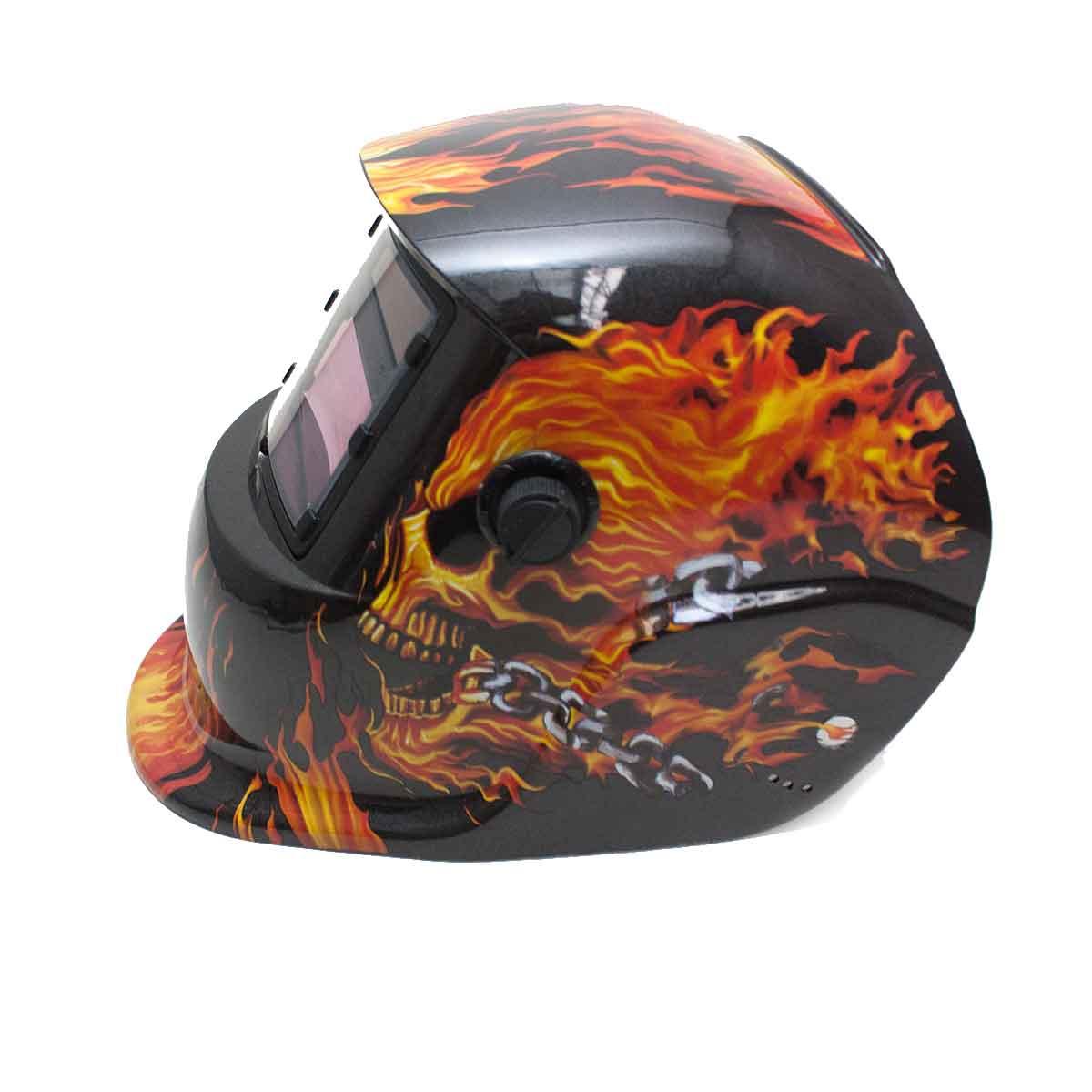 Máscara Solda Eletrônica Automático Escurecimento Fogo