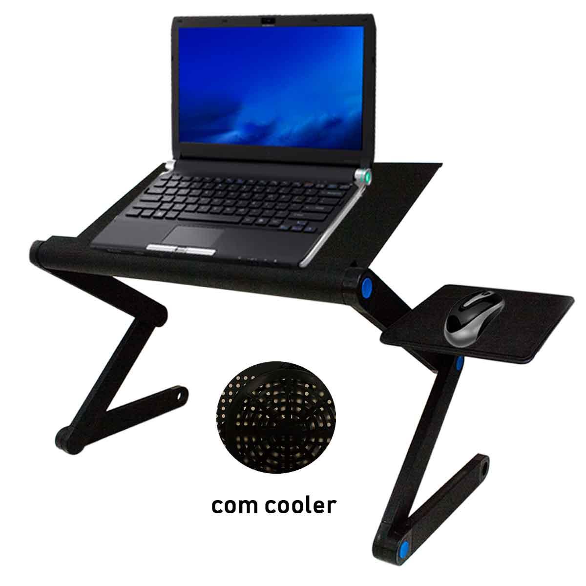 Mesa Suporte Para Notebook Com Mouse Pad Articulado Laptop
