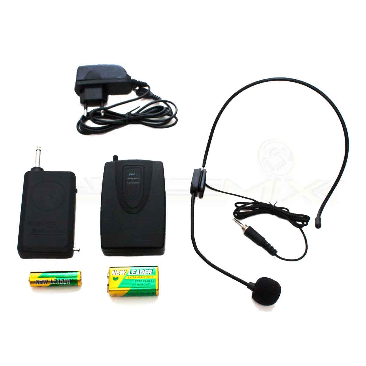 Microfone Sem Fio Lapela Headset Profissional 30-50 mts