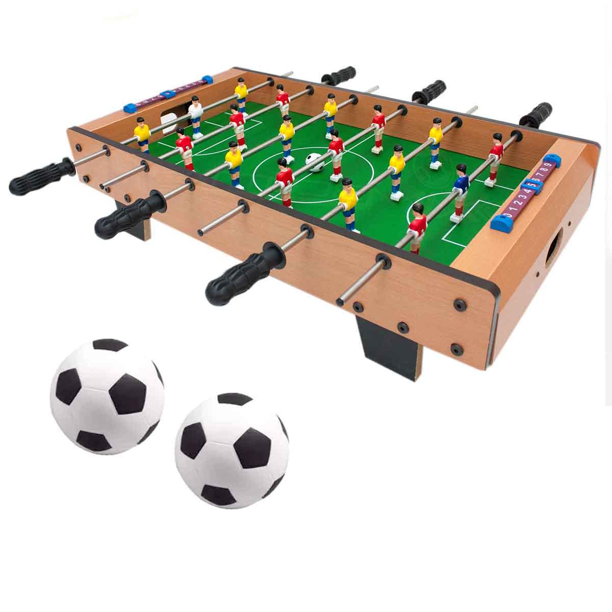 Mini Mesa Infantil Pebolim Totó 18 Jogadores Futebol
