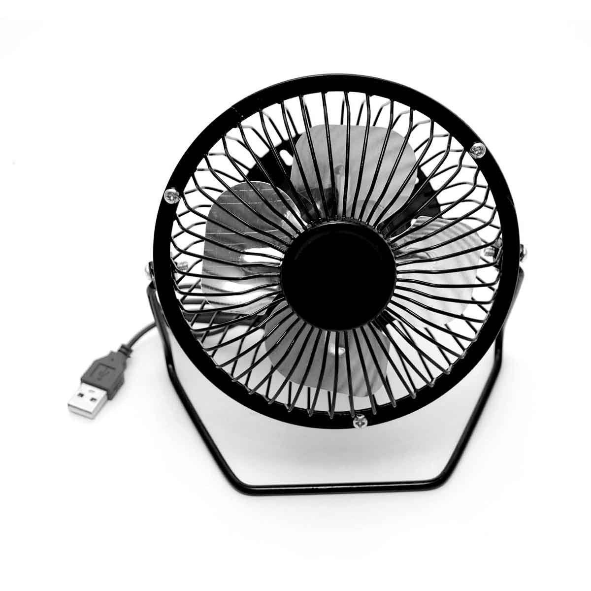 Mini Ventilador Usb De Mesa Portátil Silencioso Preto
