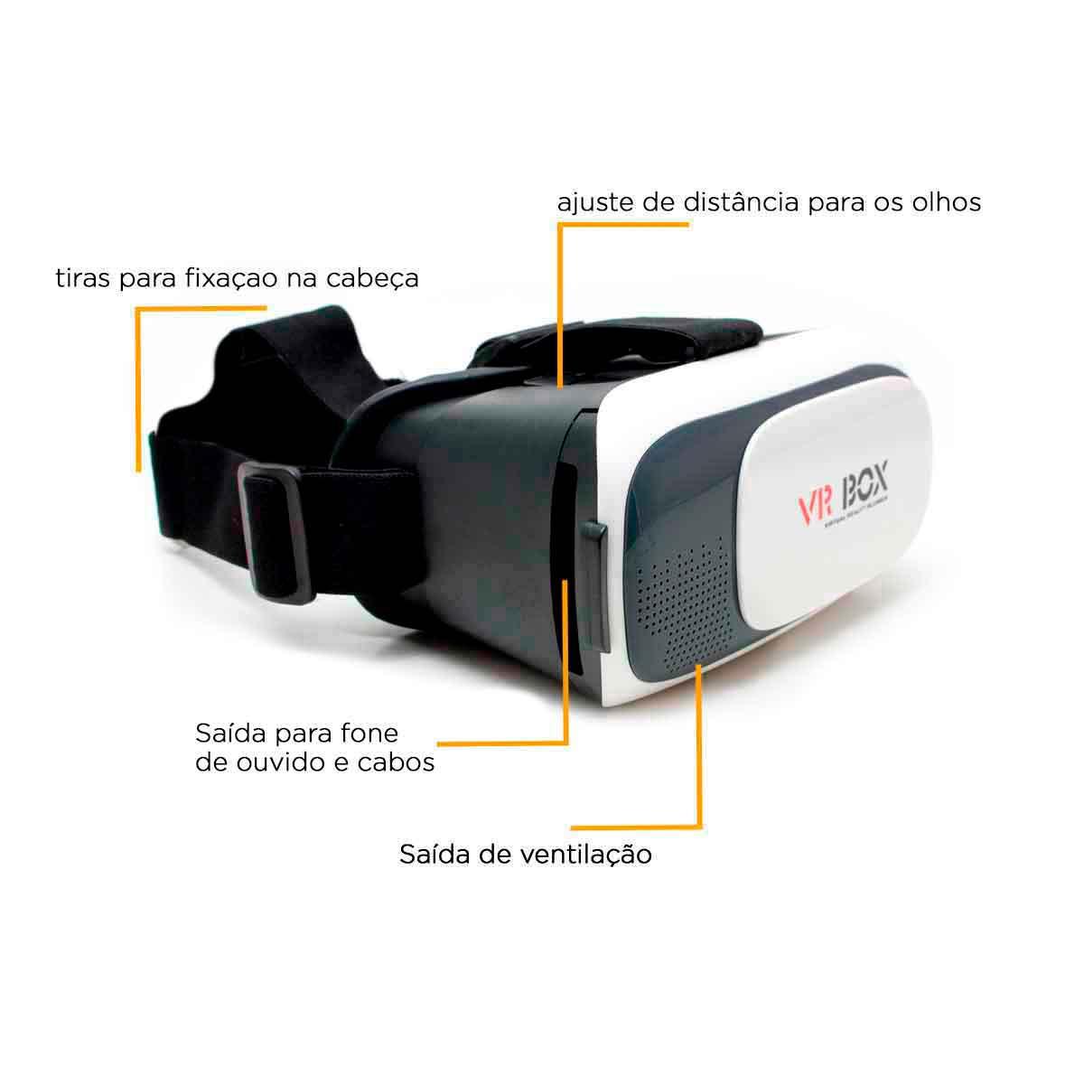 Óculos 3d Vr Box Com Controle Realidade Virtual Android Ios