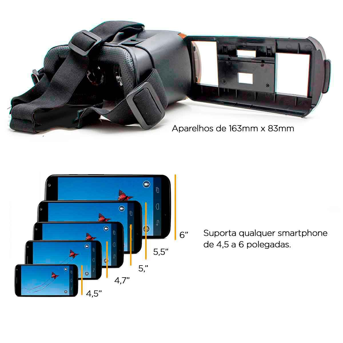 Óculos Cardboard 3d + Controle Realidade Virtual Vr Box