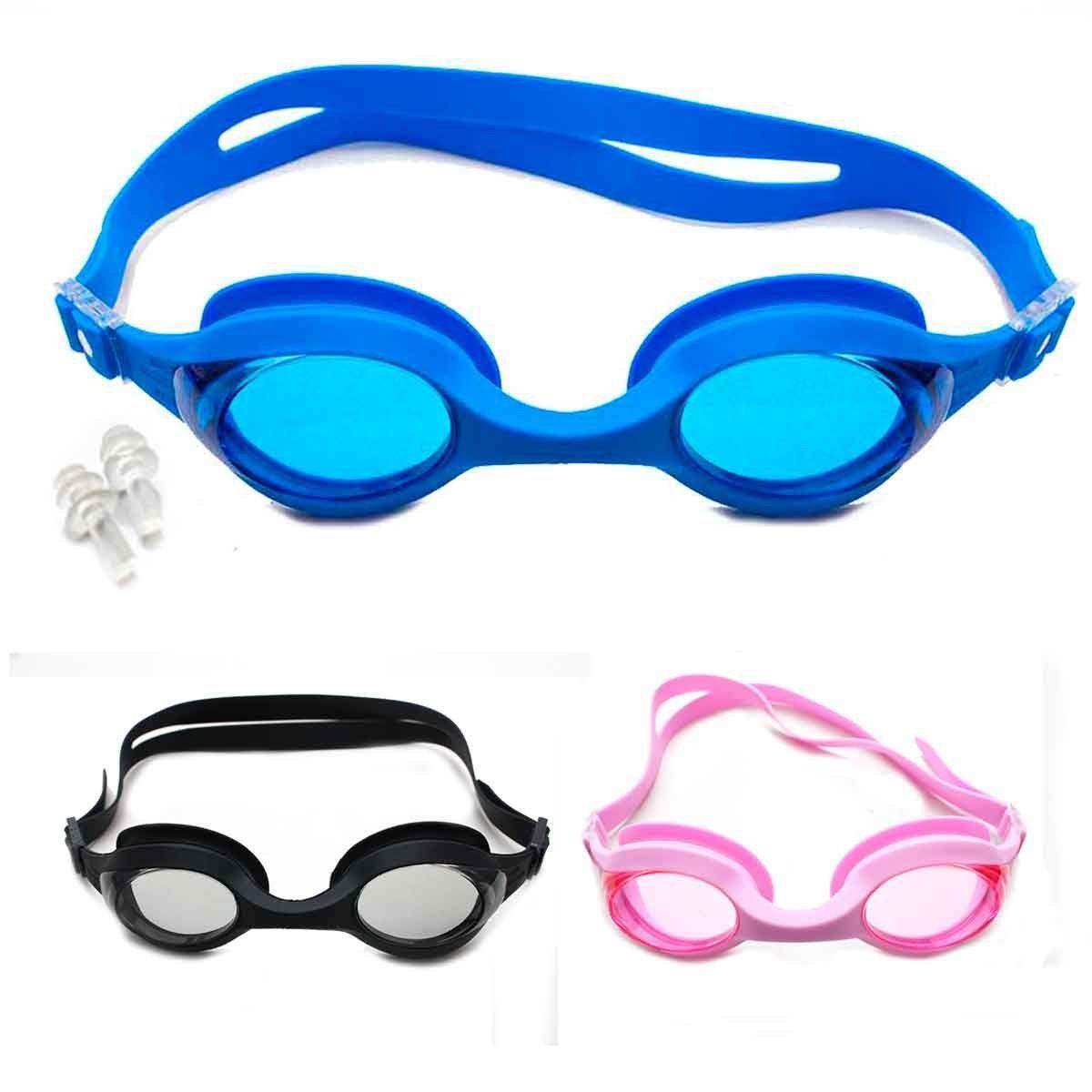 Óculos Natação Adulto Com Protetor Ouvido Piscina Silicone