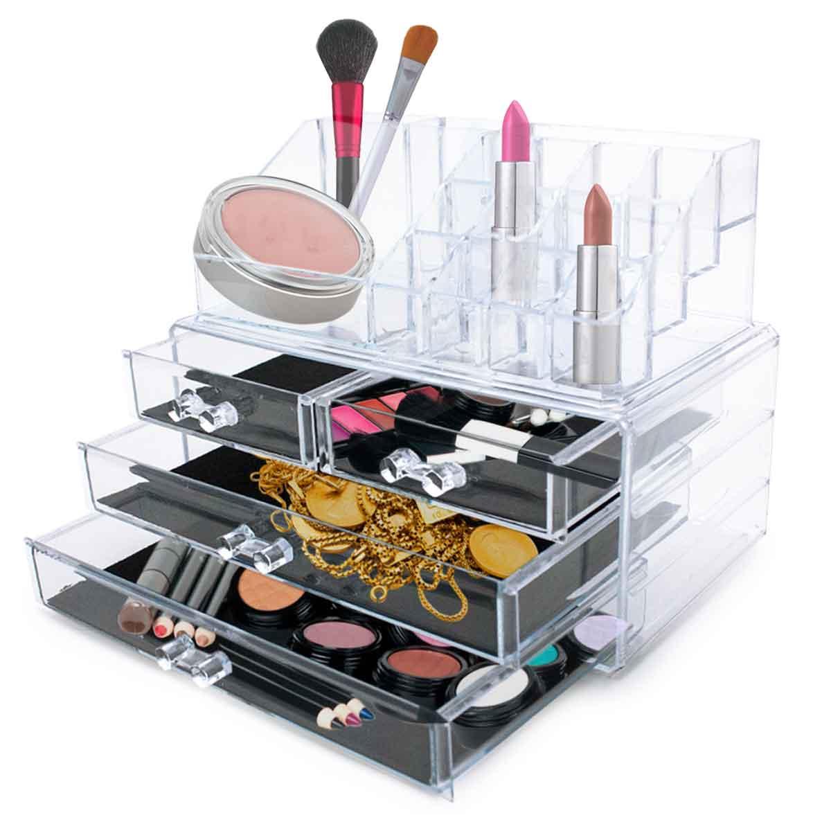 Organizador de Maquiagem Porta Batom Pinceis 20 Divisórias