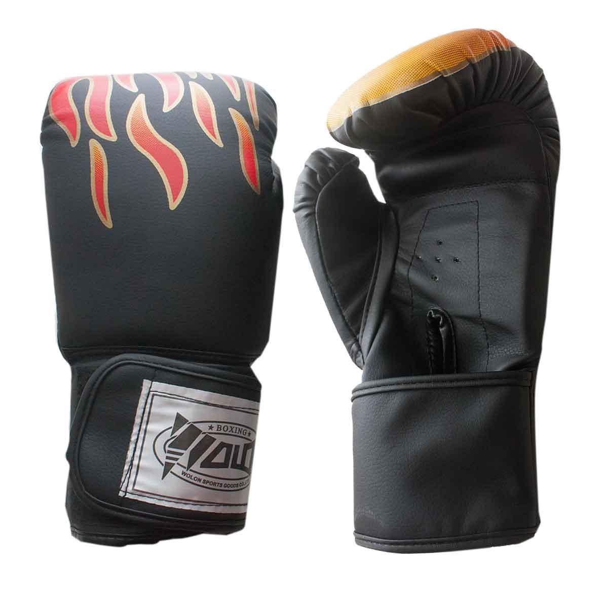 Par Luva Boxe Muay Thai Fogo Profissional Par Soco Bate Treino