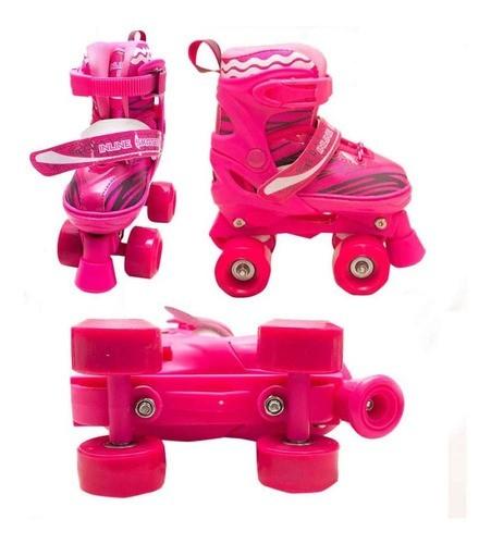 Patins Infantil Roller 4 Rodas Capacete Ajustável Proteção2