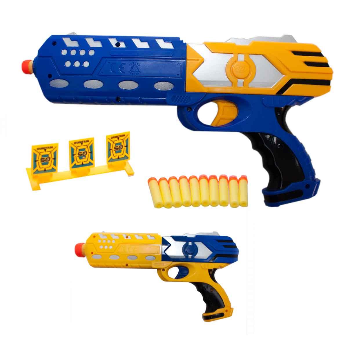 Pistola Brinquedo Infantil Pressão C/ Dardos E Alvo Criança