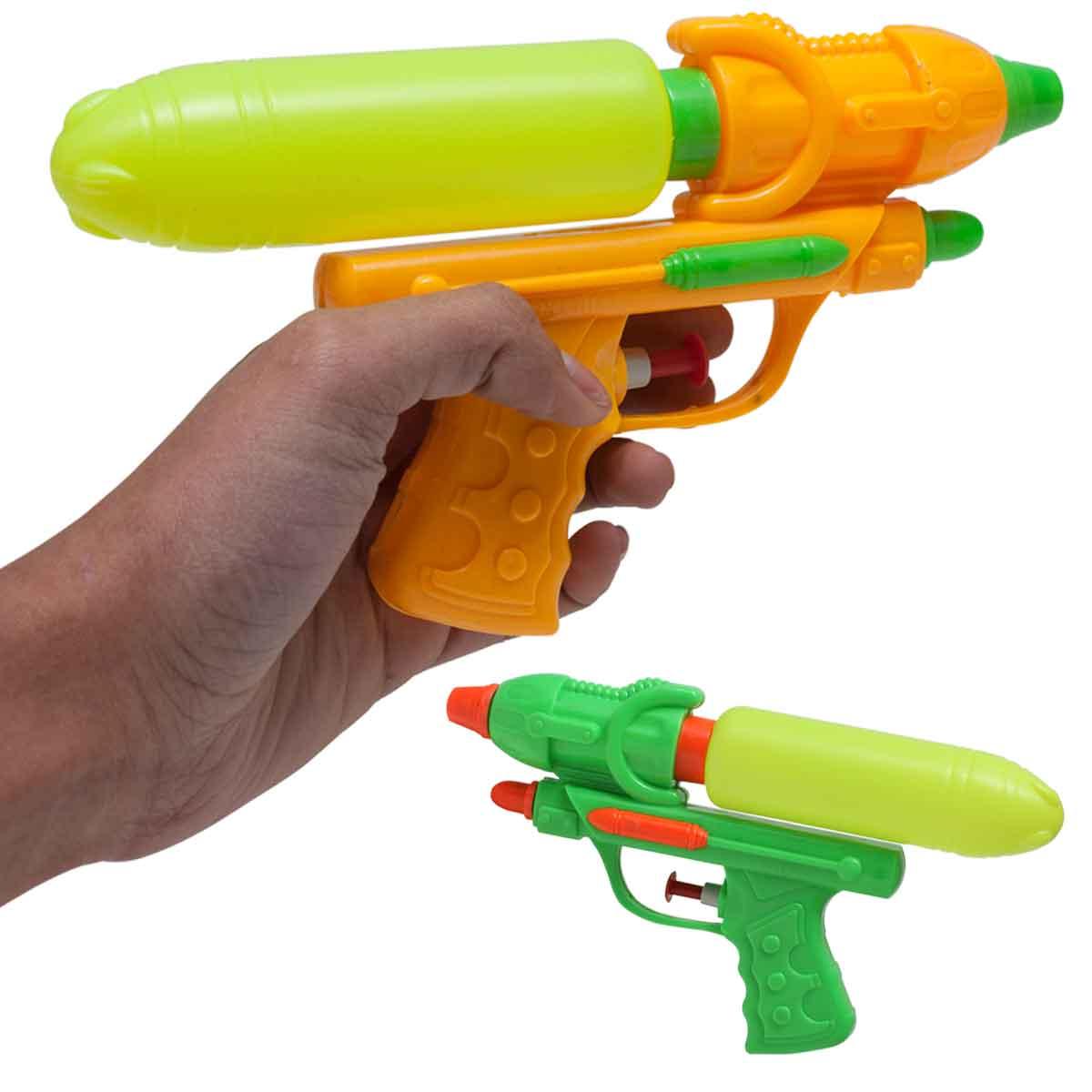 Pistola Lança Água Canhão 2 Jatos Brinquedo Criança Piscina