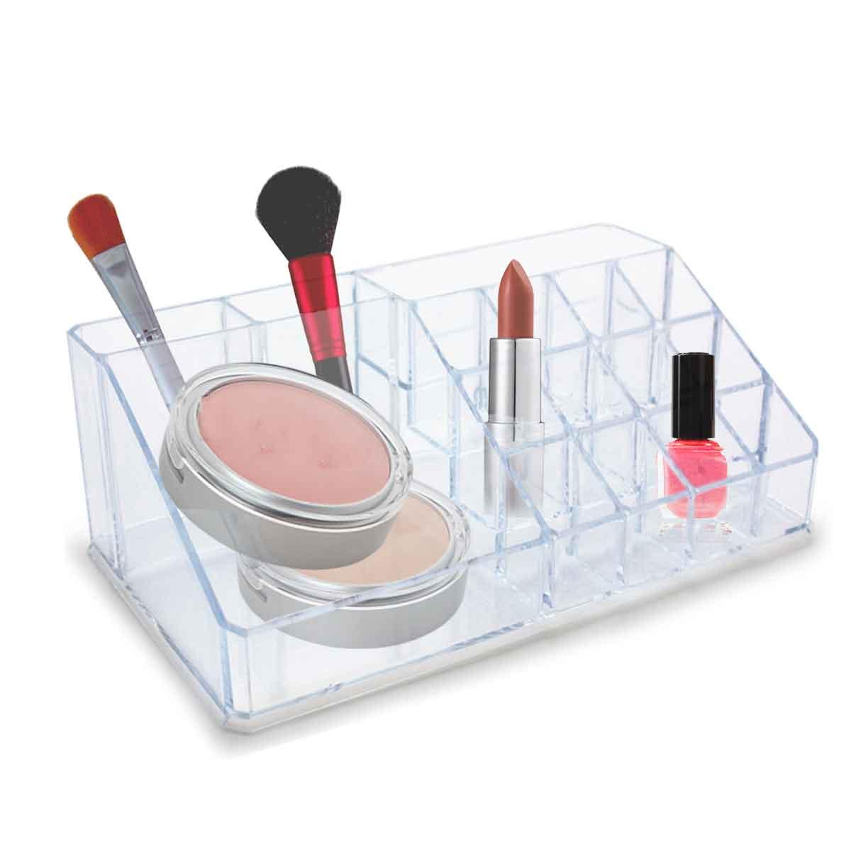 Porta Maquiagem Acrílico P/ 12 Batons Organizador Cosméticos