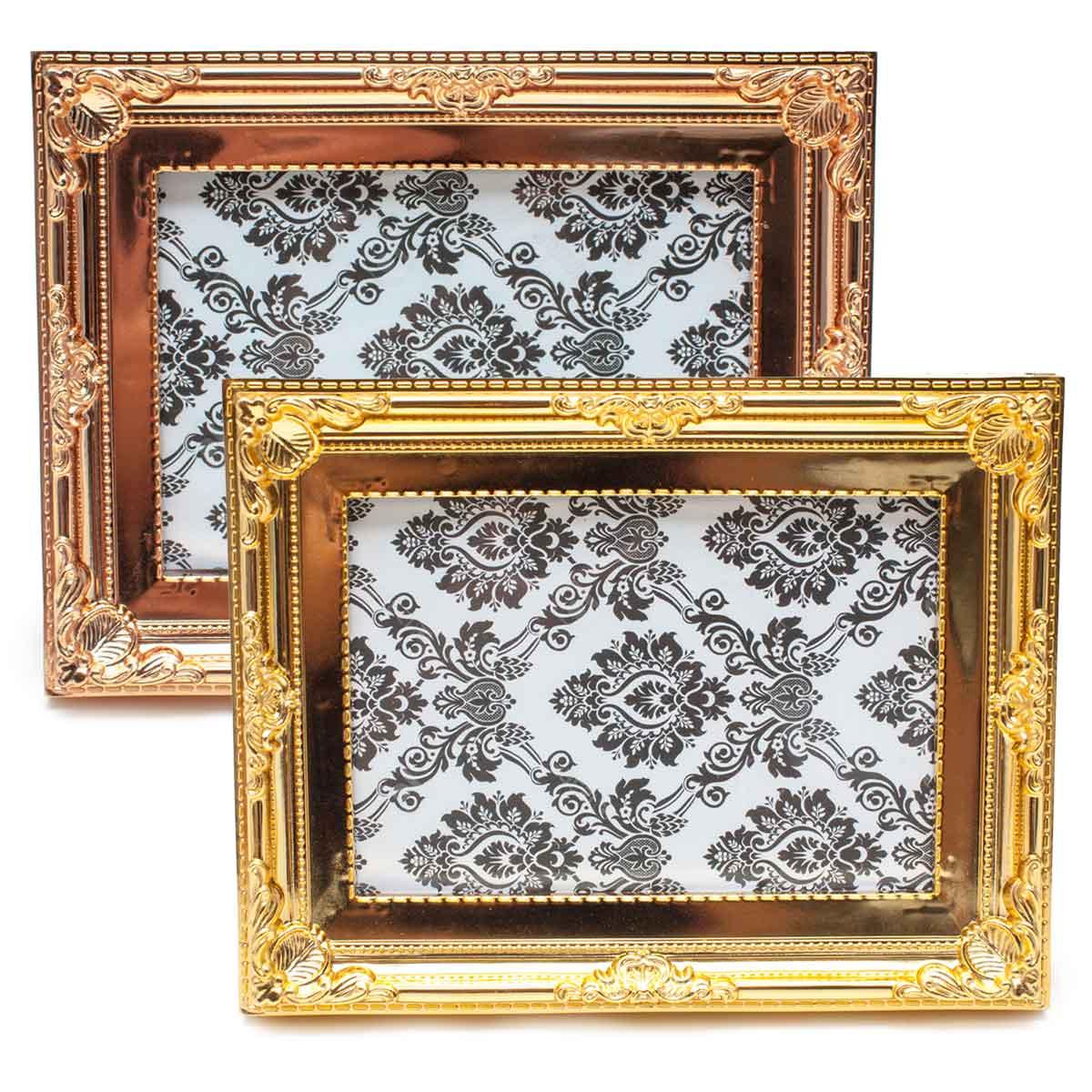 Porta Retrato Moldura 10x15cm Decoração Fotos Bronze Dourado