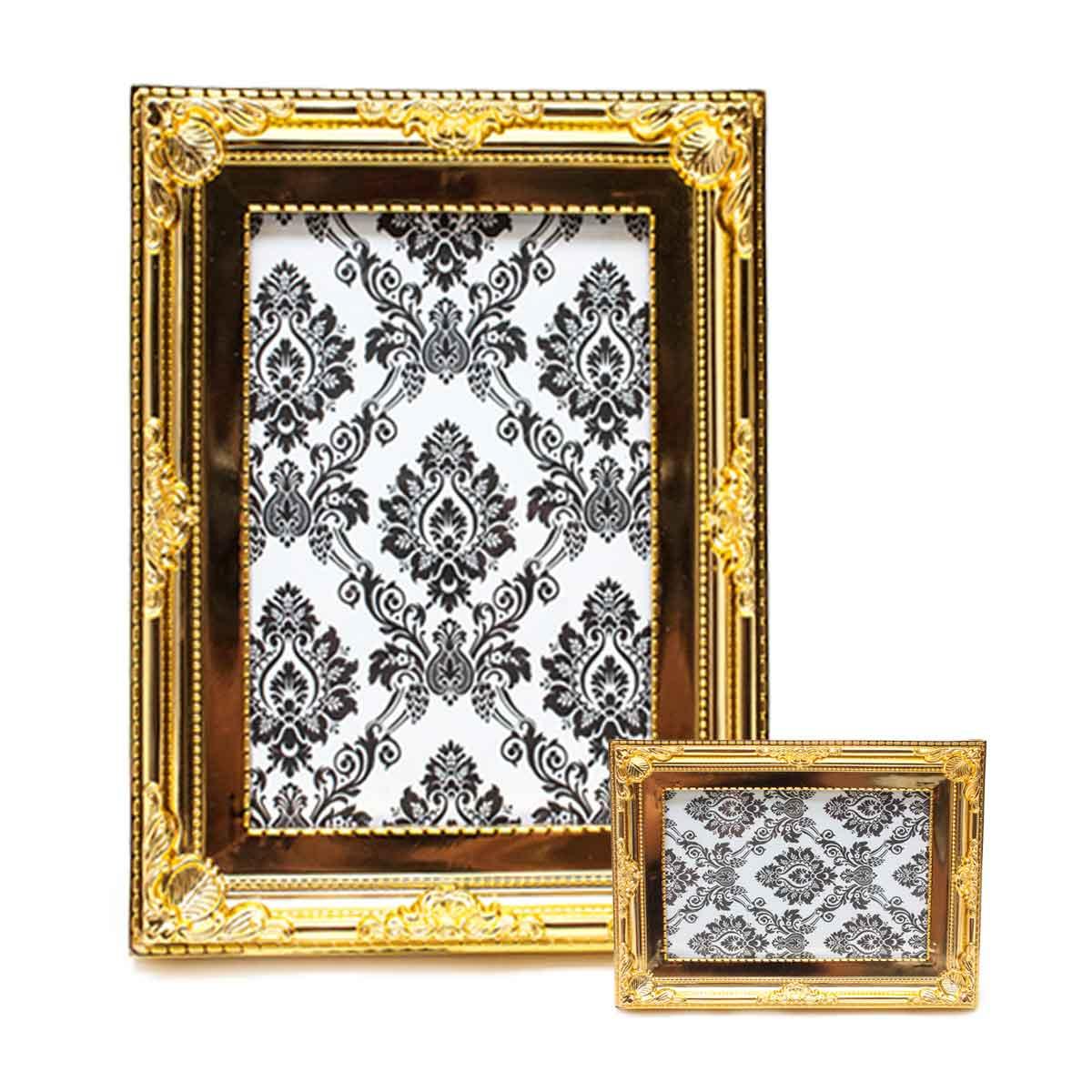 Porta Retrato Moldura 13x18cm Decoração Fotos Bronze Dourado