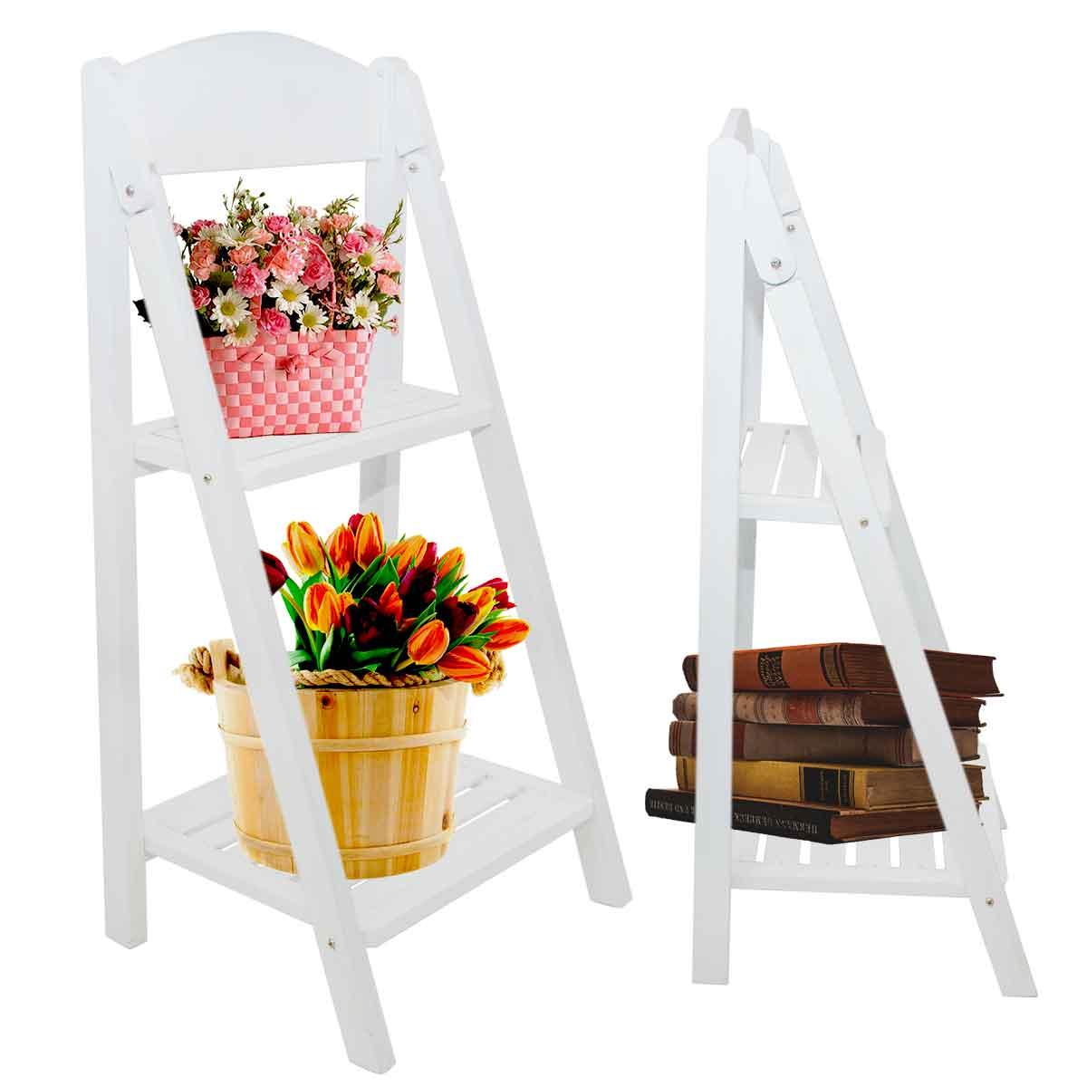 Prateleira Branca Madeira Decorativa Livros Estante Portátil