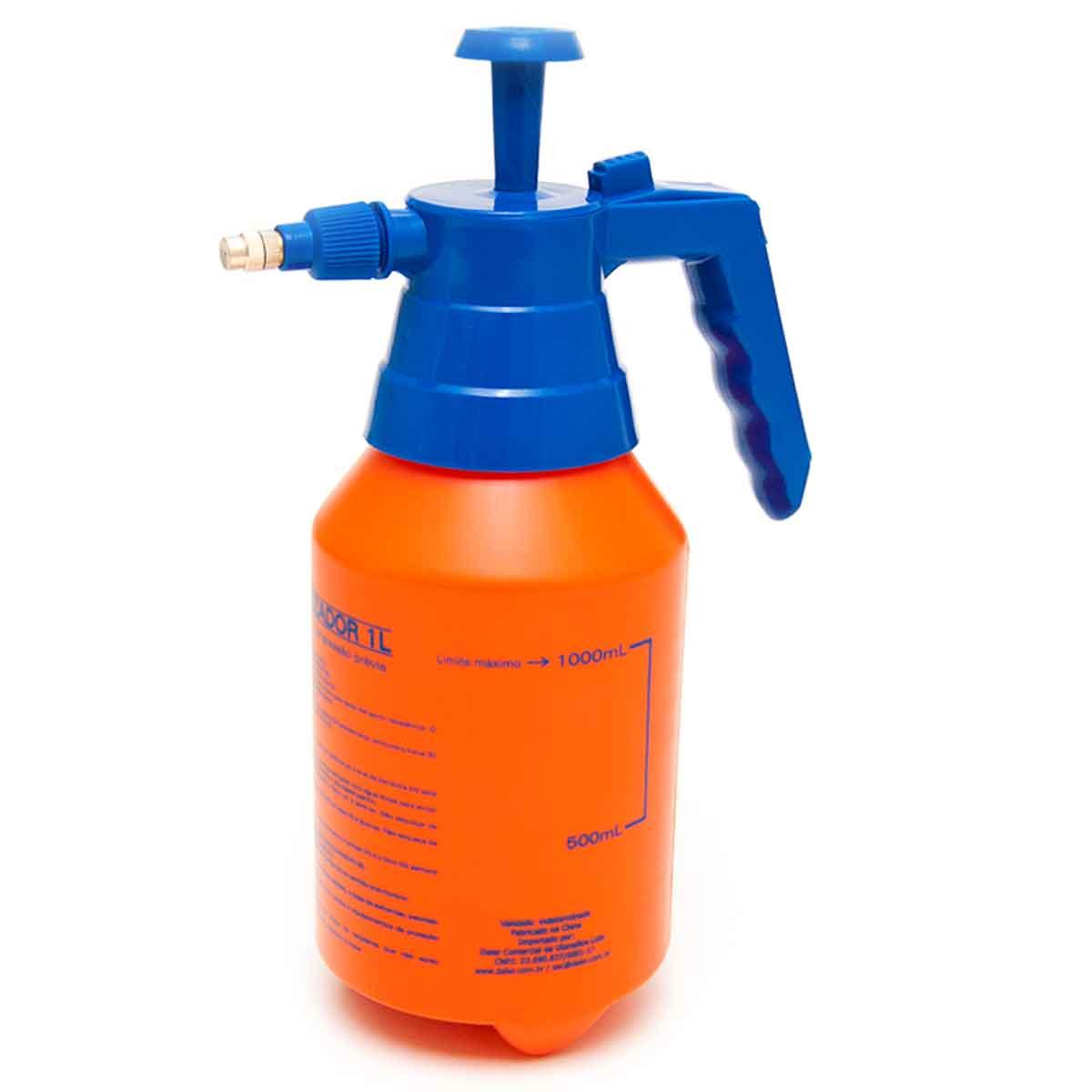 Pulverizador 1 Litro Pressão Borrifador Espargidor Bomba