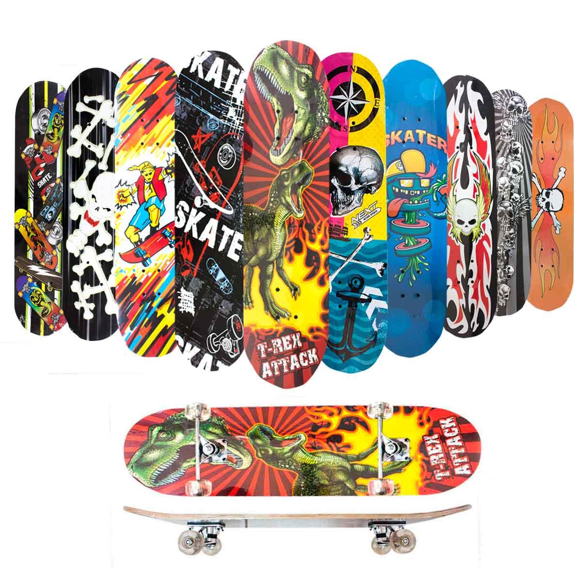 Skate Skateboard Iniciante Completo Madeira Modelos 78 Cm
