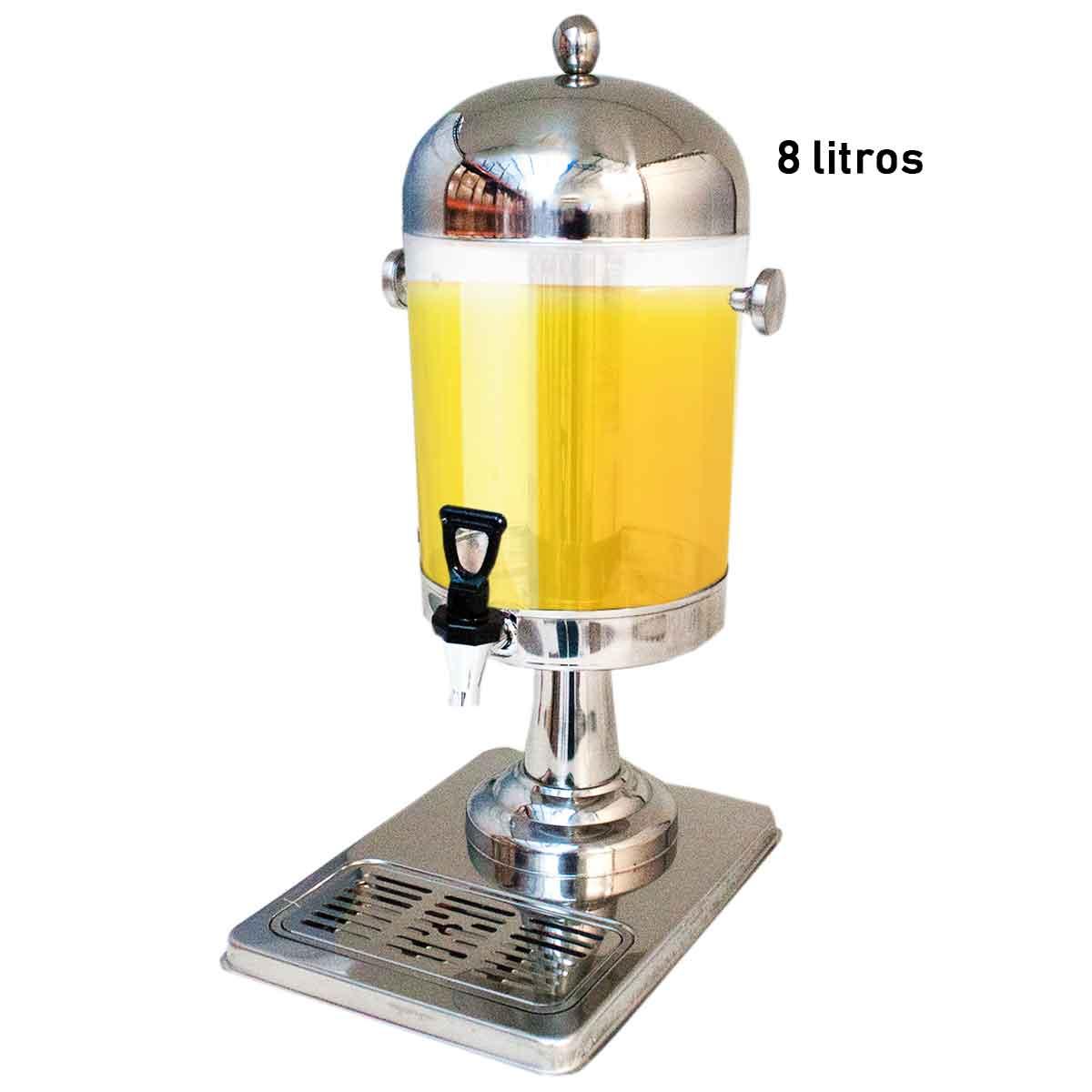 Suqueira Resfresqueira Inox Dispenser 8 Litros Bebidas