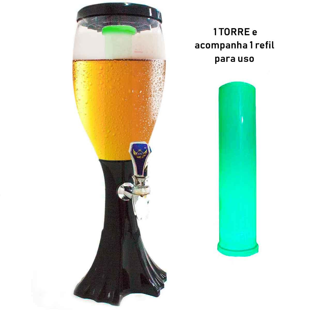 Torre Chopp Cerveja Gelada Chopeira 2,5l Luz De Led