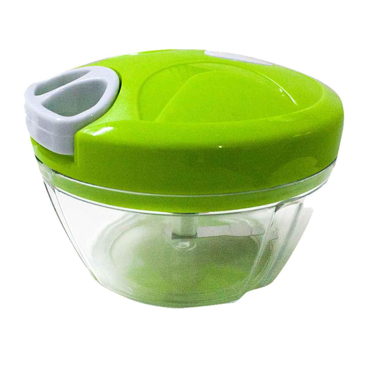 Triturador Cortador Alho Cebola Processador Alimentos Manual Cor: Verde