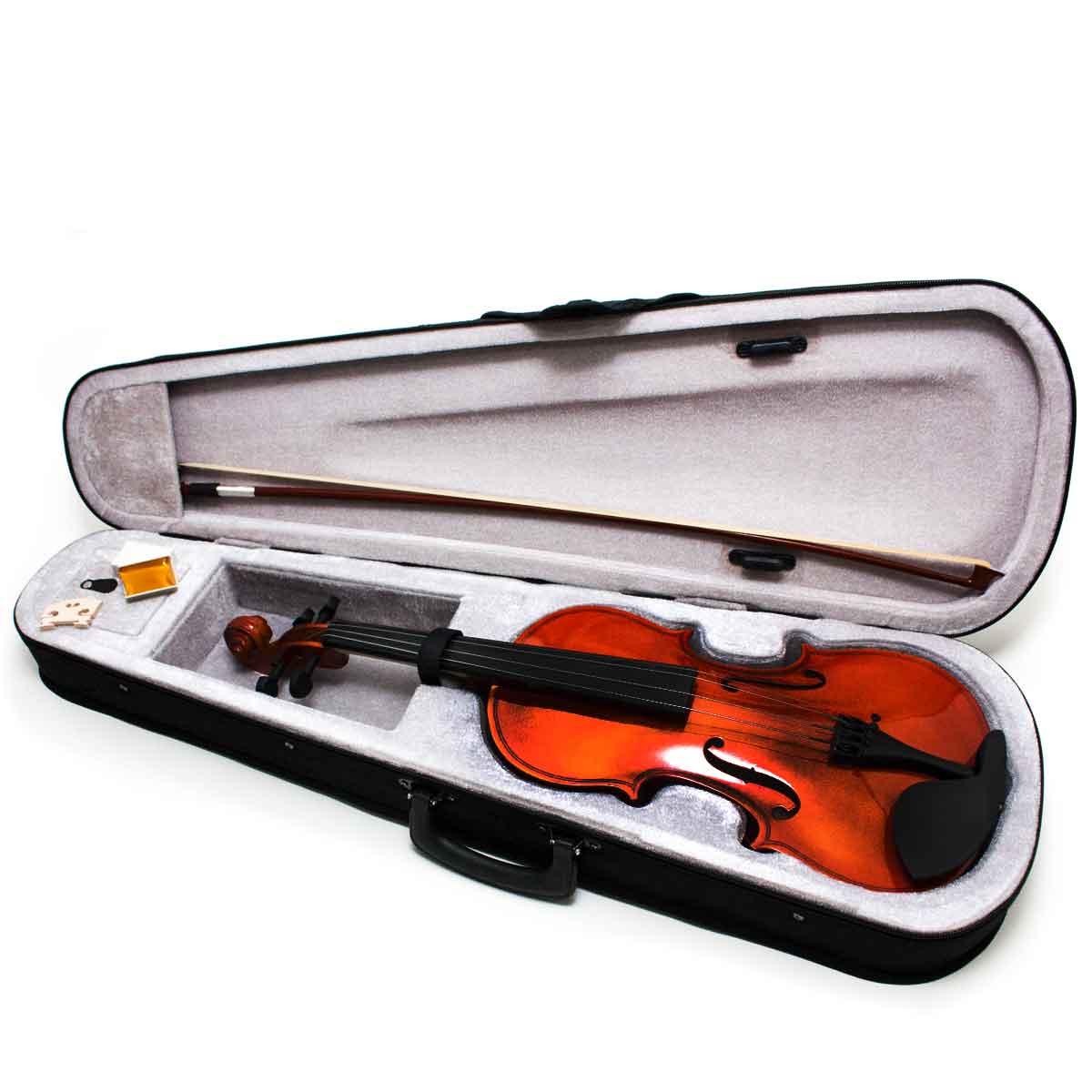 Violino 4/4 Arco C/ Breu Cavalete Estojo Madeira Estojo Luxo