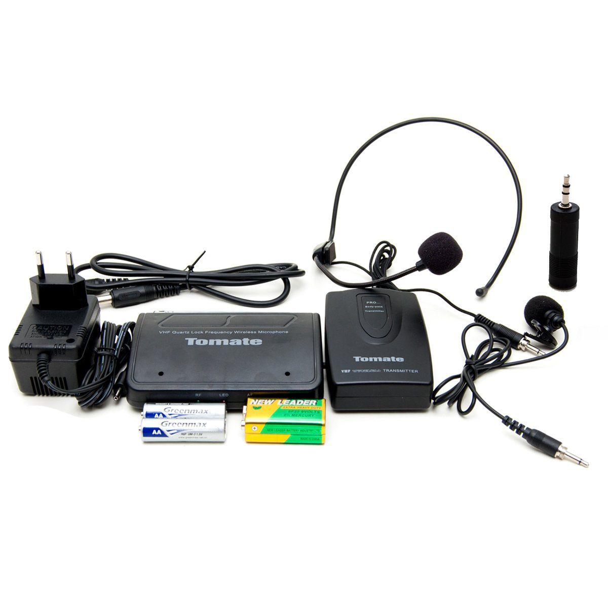 ZMicrofone Lapela Sem Fio Profissional Wireless Headset 50 mt