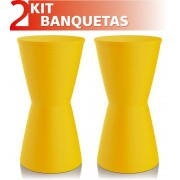 KIT 2 BANQUETAS DUB COLOR AMARELO