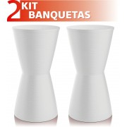KIT 2 BANQUETAS DUB COLOR BRANCO