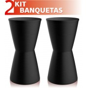 KIT 2 BANQUETAS DUB COLOR PRETO