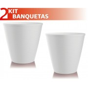 KIT 2 BANQUETAS FLUO COLOR BRANCO