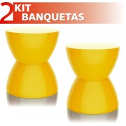 KIT 2 BANQUETAS HYDRO COLOR AMARELO
