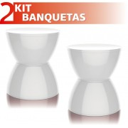 KIT 2 BANQUETAS HYDRO COLOR BRANCO